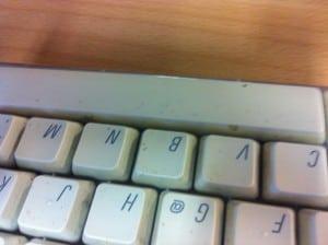 Die Tastatur des Grauens.