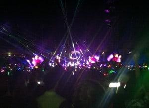 ... am Coldplay-Konzert geknipst!