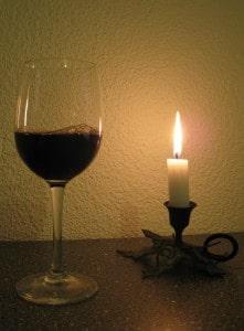 ... mir ein Gläschen Wein eingeschenkt...