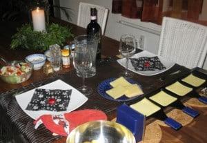 ... meinem Schatz ein Raclette aufgetischt...