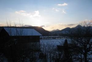 ... den Sonnenuntergang auf der Laube geknipst.
