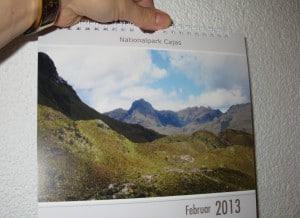 ... endlich den Ecuador-Kalender umgeblättert...