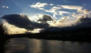 ... beim Joggen den Sonnenuntergang geknipst...