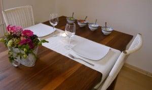 ... den Tisch für die Fajita-Orgie gedeckt...