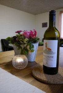 ... ein Gläschen Wein eingeschenkt...