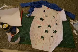Folie Sterne ausschneiden 300x200
