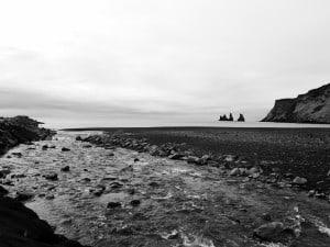 Am unwirklich schönen Strand von Vik.