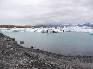 Am Jökulsarlon, der berühmten Gletscherlagune.